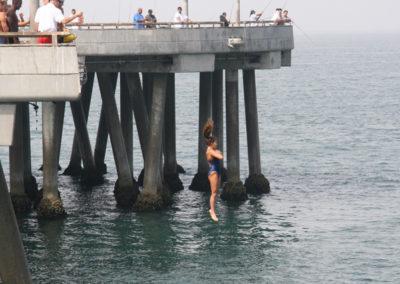 Venice lifeguard pier jump