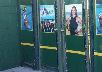 Record holders wall at Mira Costa pool